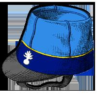 bonnet de police à visière - 1845 f4e659c2bb4