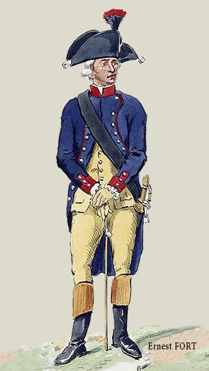 Officier Des Grenadiers Gendarmes En Petite Tenue   1793